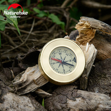 Naturehike  Mini Military Camping Compass Marching Lensatic Magnifier Wild Survival Navigation Noctilucent Compas