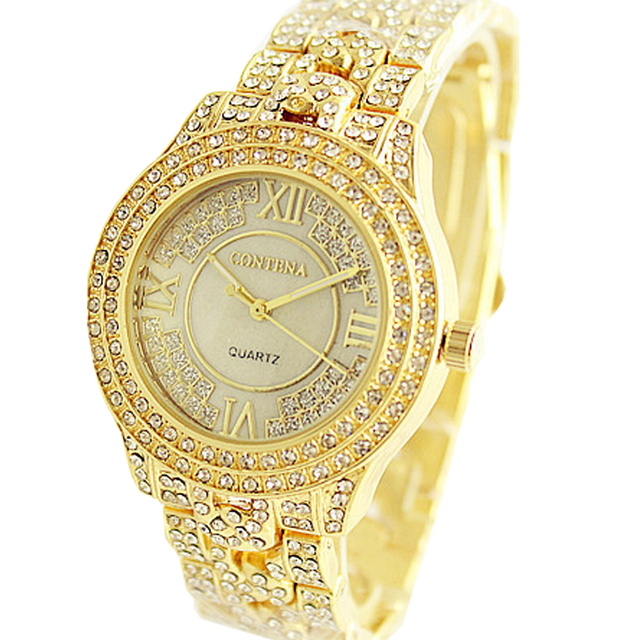 2018 New Brand Luxury Gold Women Watches Fashion Creative Quartz Ladies Watch Fe