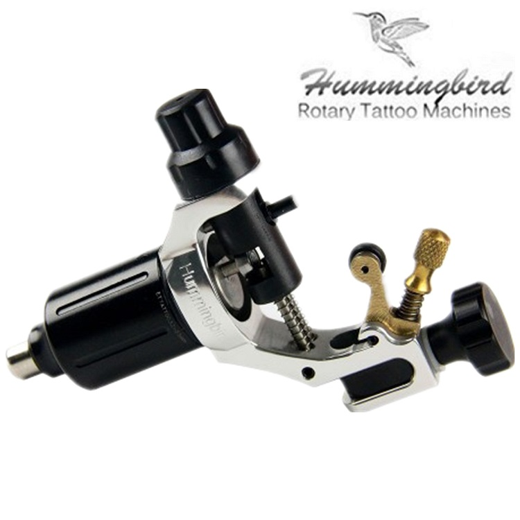 Original Hummingbird V1 Swiss Motor Rotary tattoo machine Silver Free RCA Cord For Tattoo Supply pro top swiss motor rotary tattoo machine blue for tattoo supply free rca cord