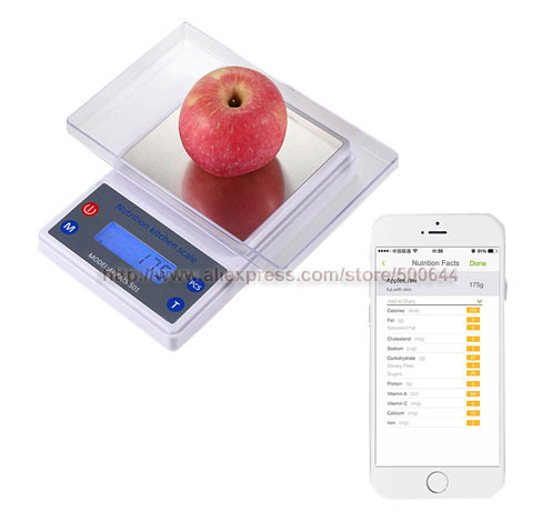 5kg 1g Led Backlight Bluetooth Food Nutrition Kitchen Scale Electronic Smart