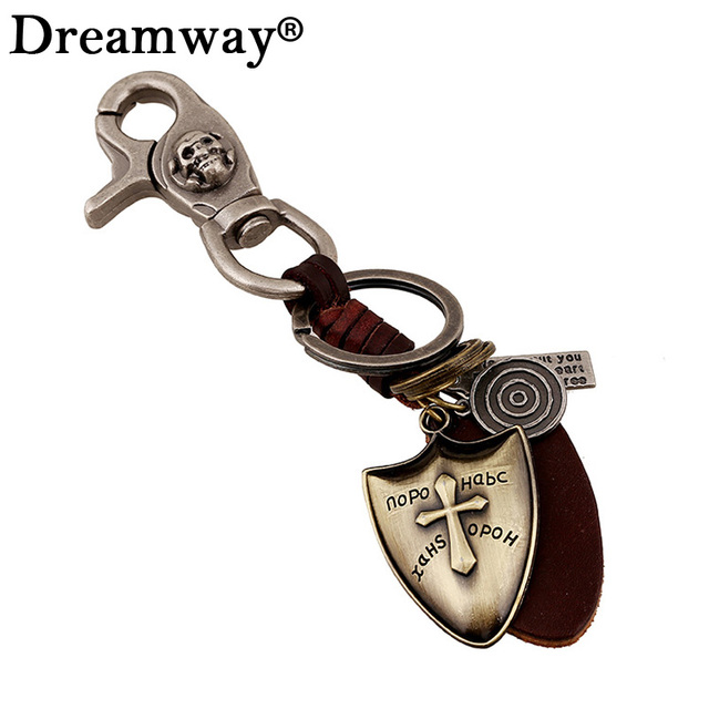 Brand Keychains keyring Womens Sporty Cross Bag Charm Crusader Shield Large  Cross Key Chain Large Leather car key holder Jewelry 4957f78687
