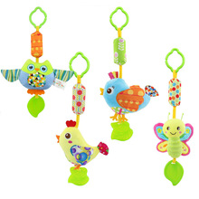 Infant Wind Chimes Plush Toys Hanging Newborn Crib Car Lathe Butterfly Bird Chicks Owl Animal Baby