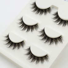 3 pairs /set 3D False Eyelashes Messy Cross Thick Natural Fake Eye Lashes Professional Makeup Tips Bigeye Long False Eye Lashes