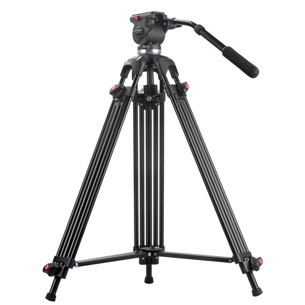 Prix pour JIEYANG JY0508 JY-0508 Professionnel caméra Trépied pour la prise de vidéo/DSLR vidéo trépied/Tête Fluide D'amortissement/Pour Caméscope DHL