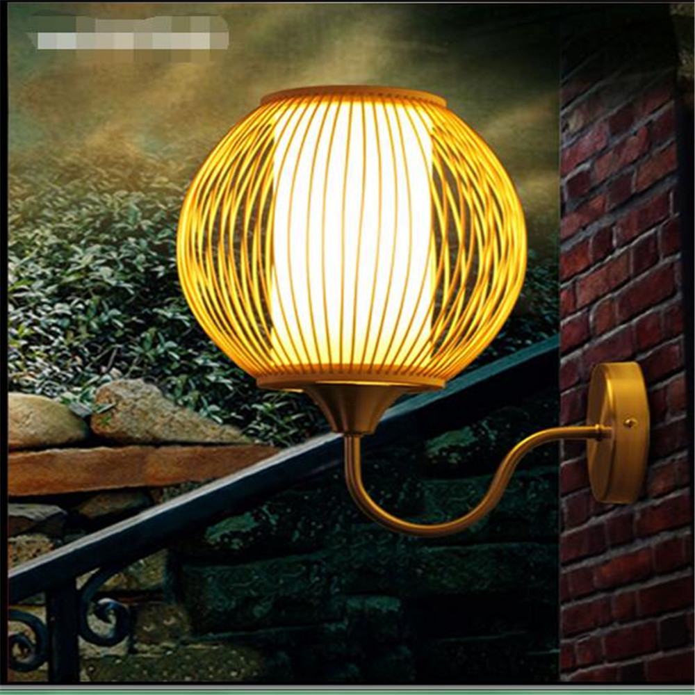 Japanese style wall lamps creative bedroom bedside lamp restaurant aisle corridor wall light bamboo art original color lights