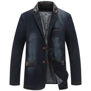 Image 4 - YIHUAHOO Casual Denim แจ็คเก็ตผู้ชายผ้าฝ้ายเสื้อ 3XL 4XL ชายเสื้อผ้าสไตล์ฤดูใบไม้ผลิฤดูใบไม้ร่วง Blazer เสื้อแจ็คเก็ตผู้ชาย