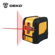 Dekopro мини Стиль наливные лазерный уровень Крест лазерной линии с красным источник света и регулируемый монтажный зажим