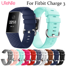 Silicone replacement wristband For Fitbit Charge 3 frontier/classic strap smart watch accessories