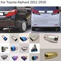 Автомобильный задний корпус Стайлинг крышка глушитель труба выход Выделите выхлопной наконечник хвост для Toyota Alphard 2012 2013 2014 2015 2016 2017 2018
