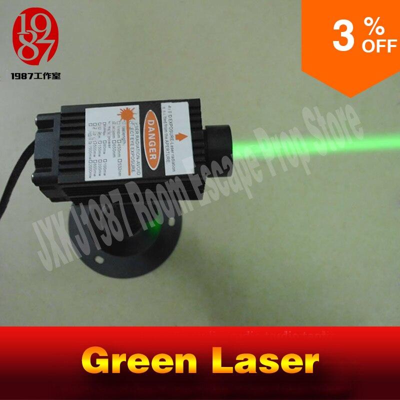 12 В в Лазерные передатчики Takagism игра реальная жизнь побег комнаты реквизит зеленые лазерные массивы передатчик устройство В jxkj1987 12 В лазер
