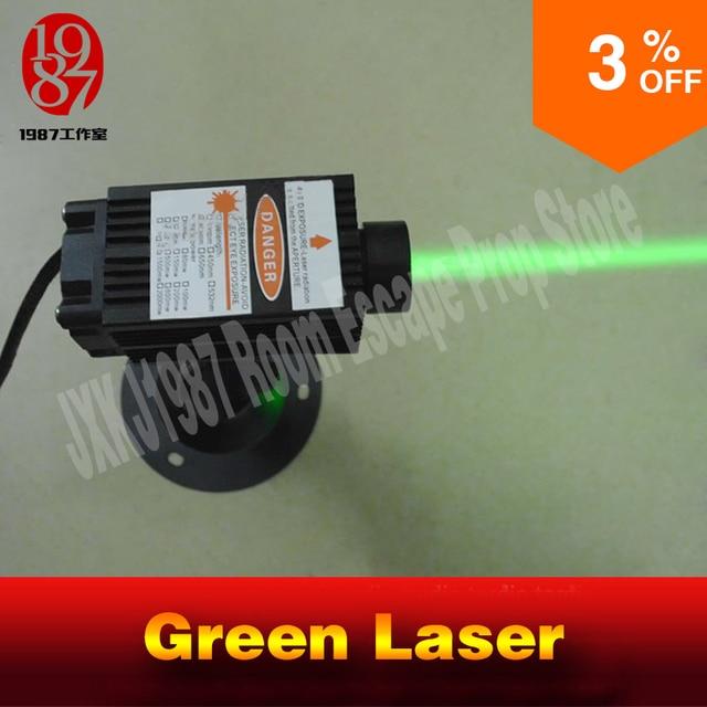 Transmisor láser jxkj1987 de 12v para sala de estar, accesorios de escape, láser verde, juego Takagism