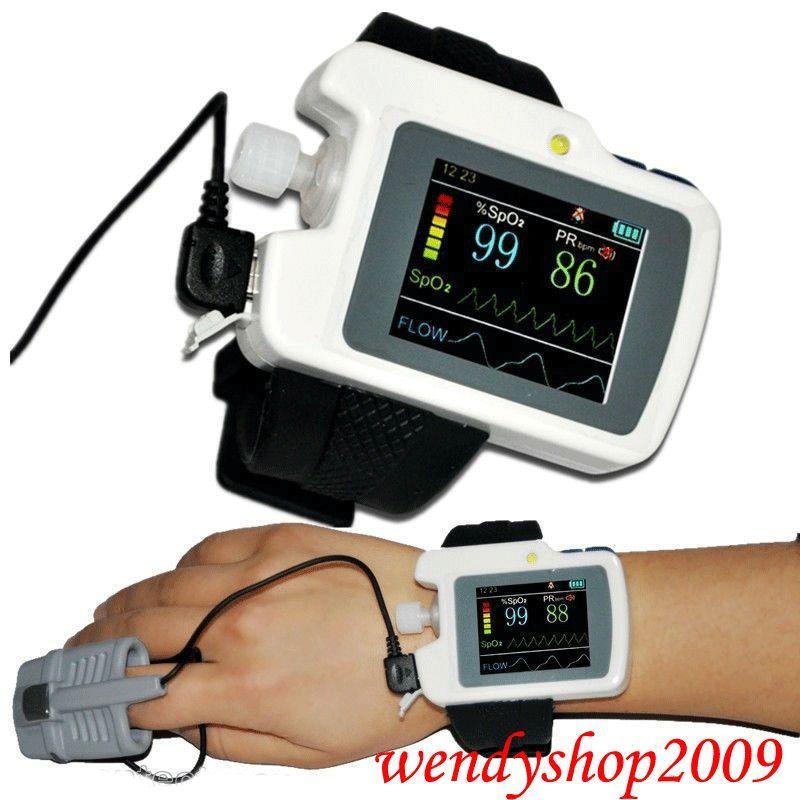Wristed дыхание сна монитор CMS RS01, SpO2, PR, нос поток воздуха USB Лидер продаж