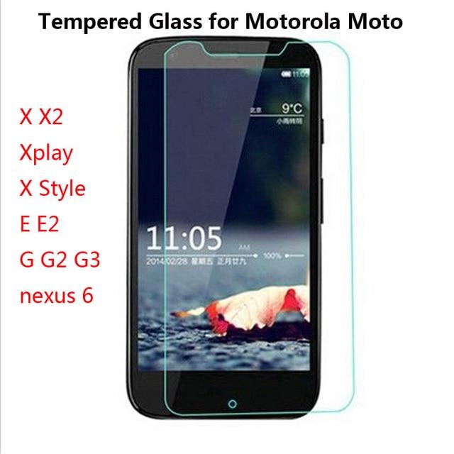GerTong Explosion proof Screen Protector for Motorola Moto X X2 E E2 G G2 G3 xplay X Style pelicula de vidro Tempered Glass Film