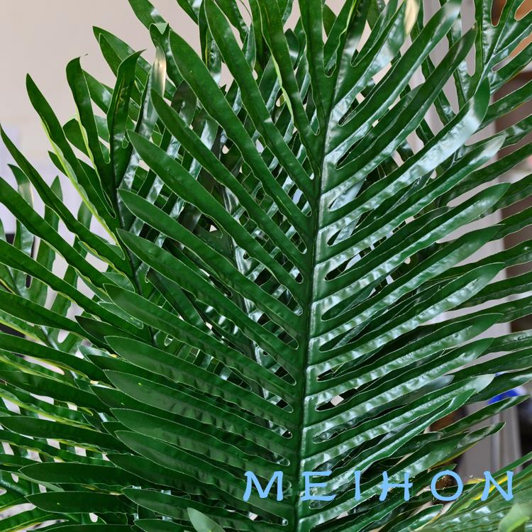 Artificial plant wedding decoration Simulation of leaf-tailed Palm leaf fantail of  Decoration fake flowers material