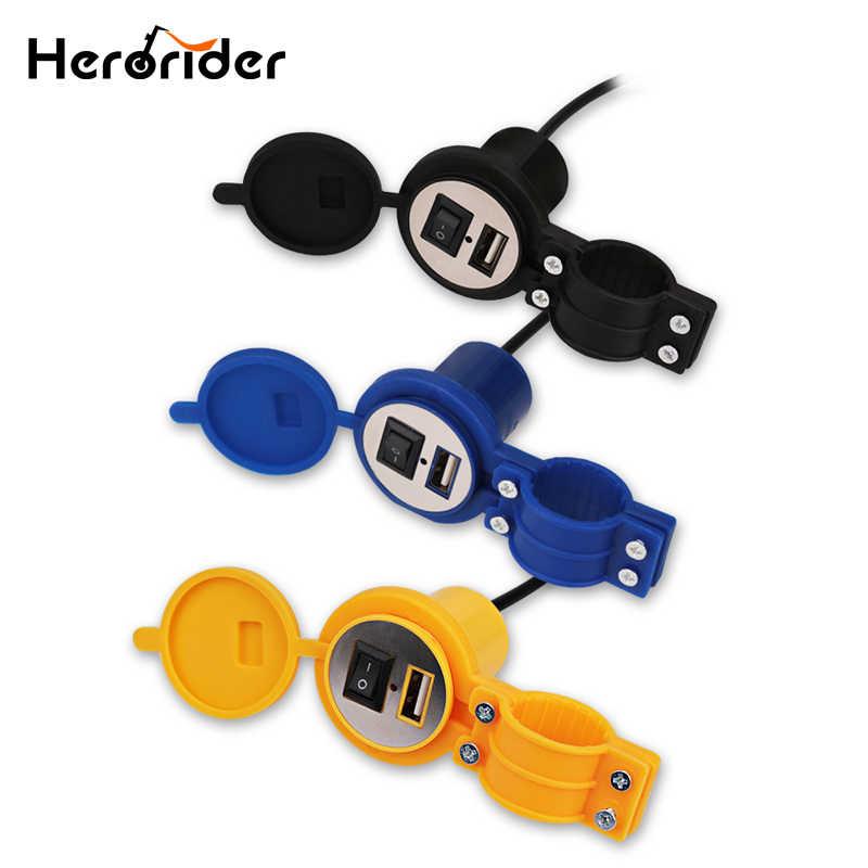 USB Caricabatteria Moto Con Interruttore Impermeabile 12 v Motore Presa USD Moto Adattatore Del Caricatore Del Telefono Per Il Iphone 6 7