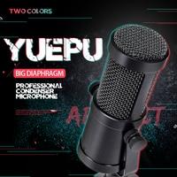 YUEPU RU C6 Studio Condenser Microphone Professional Large Diaphragm High Sensitivity for Computer Video Recording Internet Live