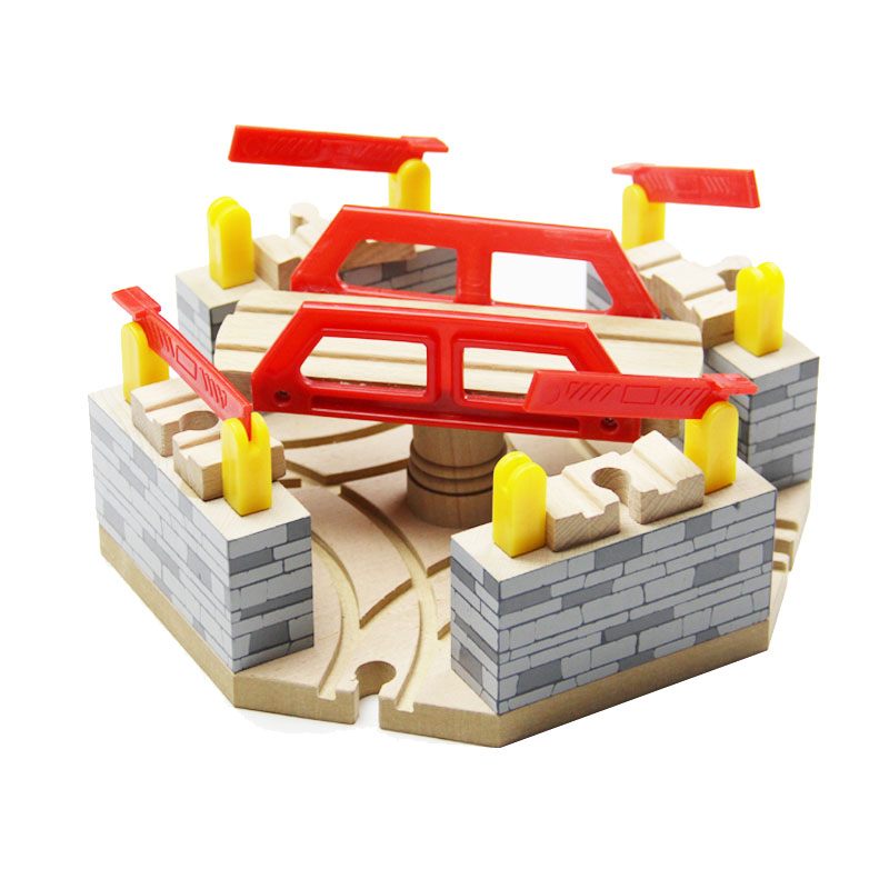 Best Baby Christmas DIY educational wooden Tomas and Friends Railway Train Track Toys Luxury Switch slot