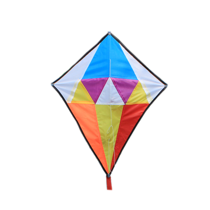 Outdoor Fun Sports New Arrive Diamond Kite/ Rhombus Kites With Handle & Line Good Flying Gift