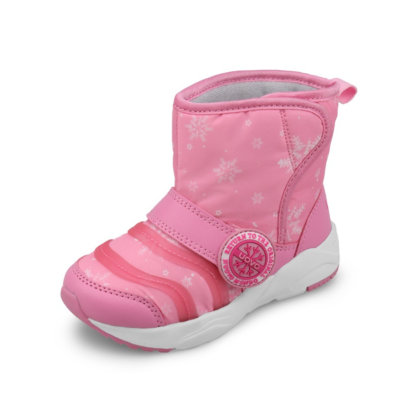 Child Warm Comfortable Winter Boots For Girls Boys Plush Thick Non Slip Fur Snow Boots Round Toe Flat Soft Sole Shoes AA11145