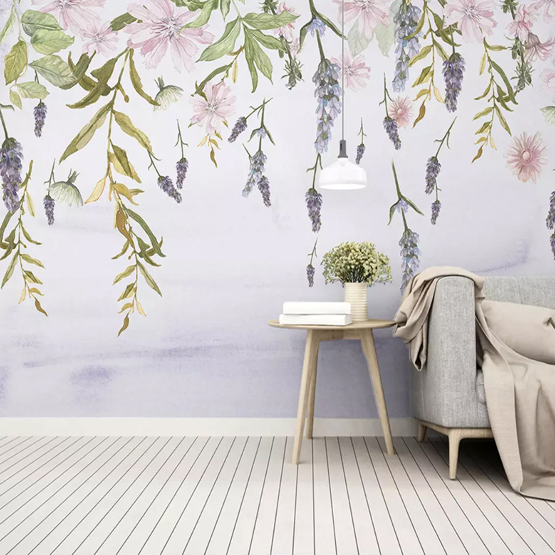 Custom Any Size Mural Wallpaper 3D Green Leaves Floral Watercolor Photo Wall Paper Living Room TV Sofa Bedroom Home Decor Fresco