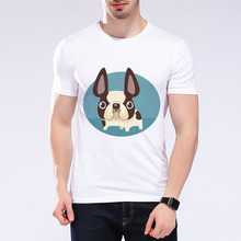 2017 Fashion Hombre Slim Fit Short Sleeve T shirts Cute Cartoon Mini Husky Print Top O-neck Men t shirt m-E5-39 #