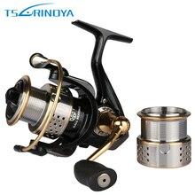 Trulinoya Double Metal Spool Spining Fishing Reel 5.2:1 8+1BB 230g Bass or Carp Lure Fishing Reel Max Drag 6kg