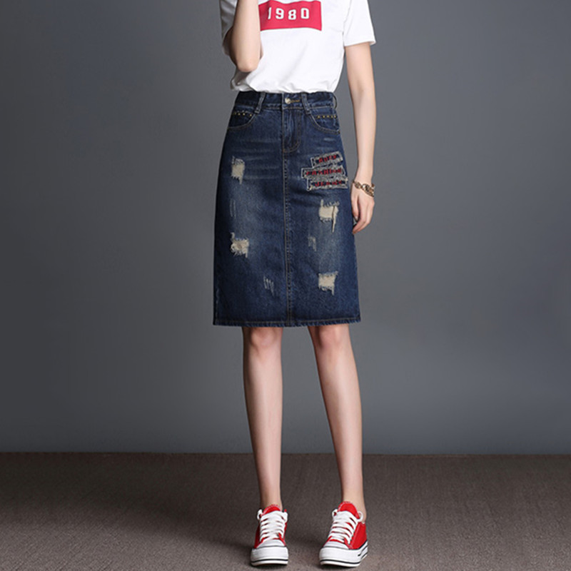 Popular Straight Denim Skirt-Buy Cheap Straight Denim Skirt lots ...