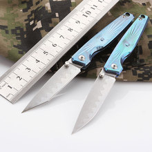CH Mini Folding Knife With titanium Handle Pocket VG-10 Blade free shipping Tactics Survival Hunting knife Men Gift
