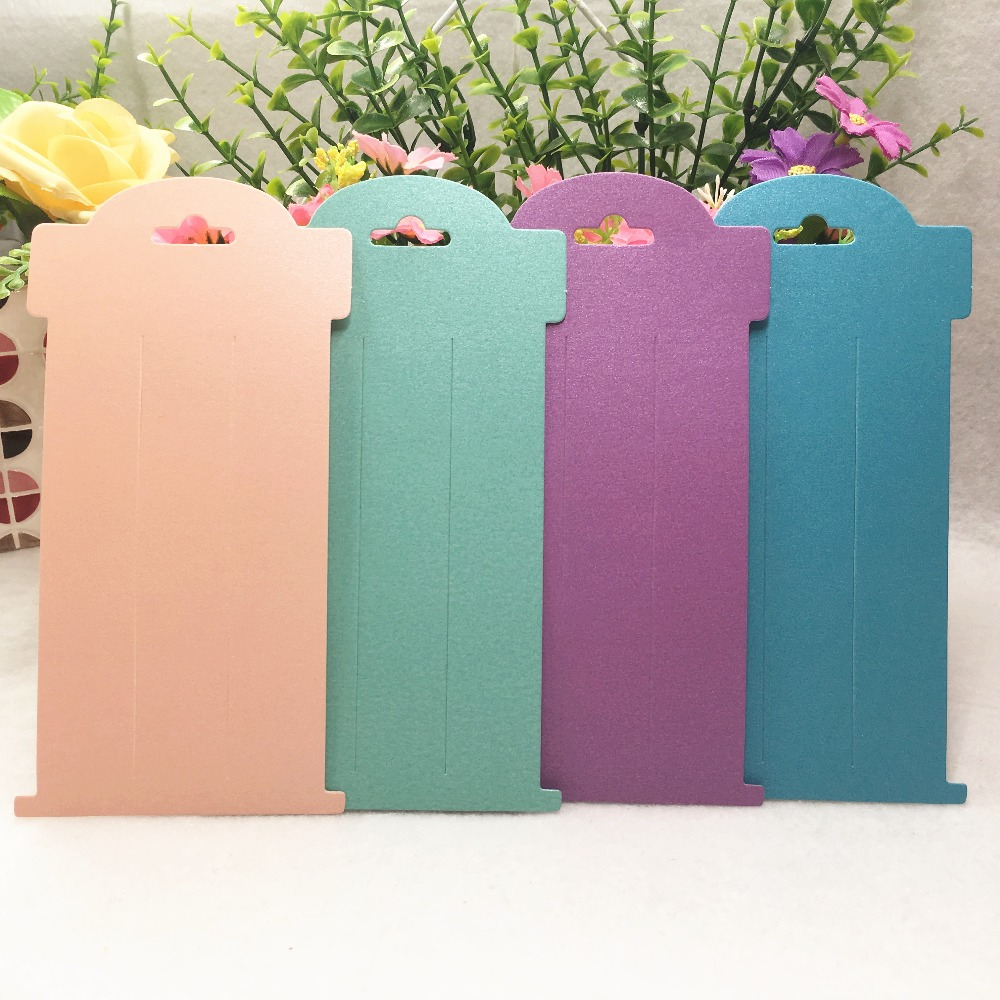 100 pcs Fashion Jewelry Hairpin Display Paper Cards Hair Packaging Paper Cards Jewelry Hairpin Accessory Cards Tags 16x8cm