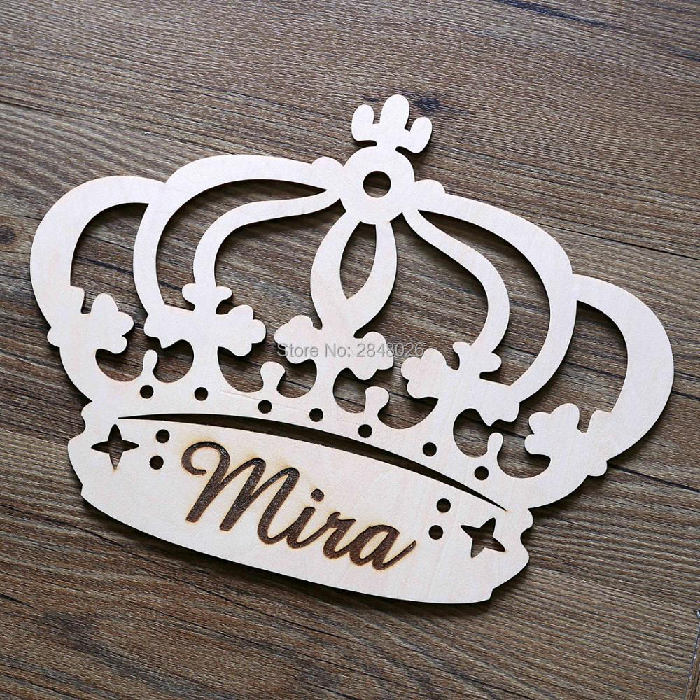 Princess Crown Wall Plaque Personalized Wall Hanging Mirror Engraved Wall Decor
