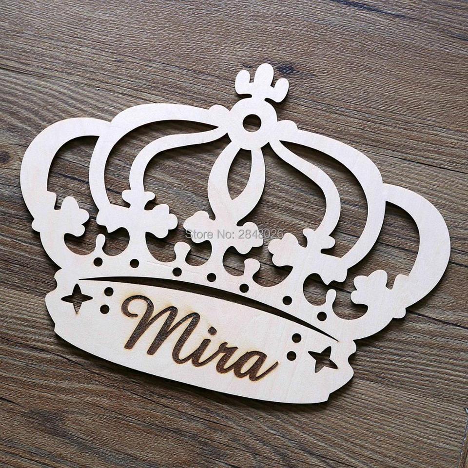 Laser Cut Wooden Princess Crown