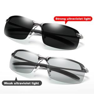 Image 2 - 2020 Nieuwe Mannen Fotochrome Gepolariseerde Zonnebril Uv Driving Eyewear Voor Mannen Vrouwen Drivers UV400 Zonnebril Mannelijke Bril