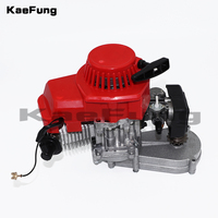 49CC 2 Stroke Motor Engine with T8F 14t Gear Box Easy to Start Pocket Bike Mini Dirt Bike Engine DIY Engine