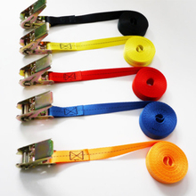 5 meters length ratchet strap 2.5CM width tie down straps fast to hold down cargo equipment during transport for pickup truck