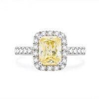 1 72 Kt Fancy Yellow Diamond Ring Radiant Color Diamond Rings For Women