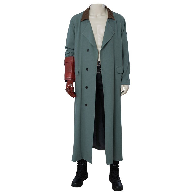 Hellboy Rise of the Blood Queen Anung Un Rama Cosplay Costume Men's Trench Jacket Coat