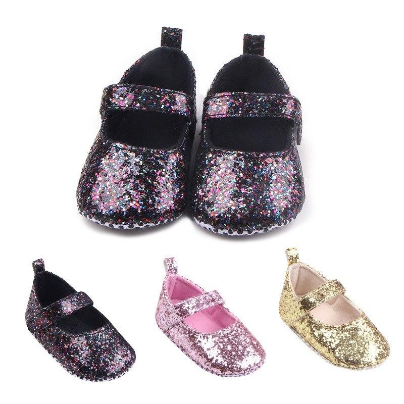 Baby meisjes eerste Walker peuter katoen Sequin baby zachte enige - Baby schoentjes - Foto 4