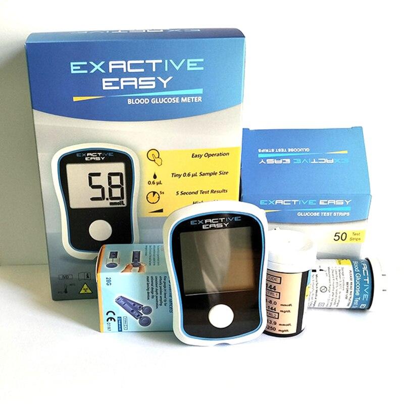 Глюкометры для контроля уровня глюкозы в крови, 5S тест 50 полосок, игл и ланцет + ручка для забора крови для диабетиков