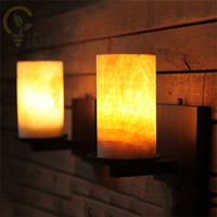 Natural Marble E27 Wall Sconce Retro Wall LampS Fixtures Creative Personality Loft Industrial Vintage Wall Lights