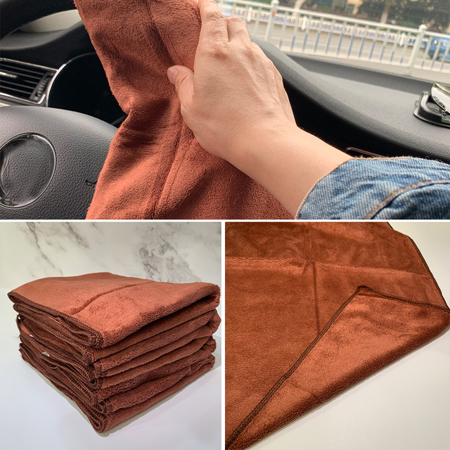1pc Microfiber Towel Car Auto Cleaning Drying Absorbent Cloth Soft Car Care Cloth Duster Detailing Car Wash 35x75cm