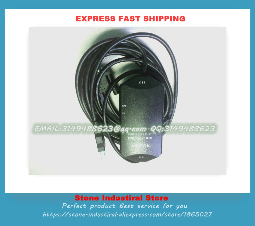 USB-MPI+ Isolated PLC Programming Cable for S7-300/400 support win7 6ES79720CB200XA0 Good Qualiy professional integrity plc programming cable usb fbs seconds