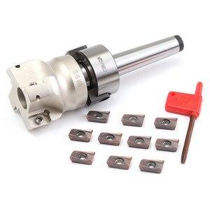 Image 3 - Novo cortador de moinho mt2 m10 & 50mm face end + 10 peças carboneto inserção apmt1604 cnc moinho fresa inserção kit máquina ferramentas