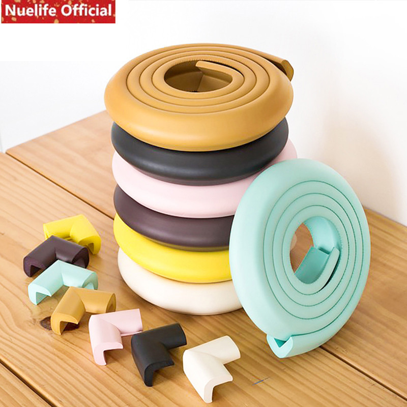 Nuelife kids room soft bag anti-collision strip 3D wall stickers self-adhesive thickening corner protection table corners