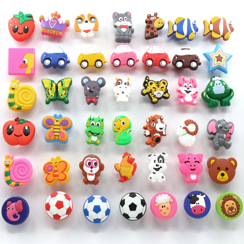 Children protection cartoon soft plastic children furniture handles kids bedroom dresser knobs drawer pulls for Girls Boys room 8pcs cute cartoon children bedroom furniture cabinet drawer dresser knobs door pull handles soft pvc handles for kids