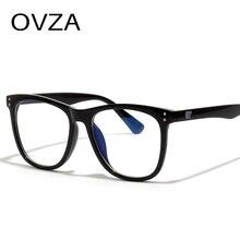 OVZA, мужские очки против излучения, женские очки в черной оправе, анти-светильник, Синяя Прозрачная оправа, очки для компьютера, очки S0039