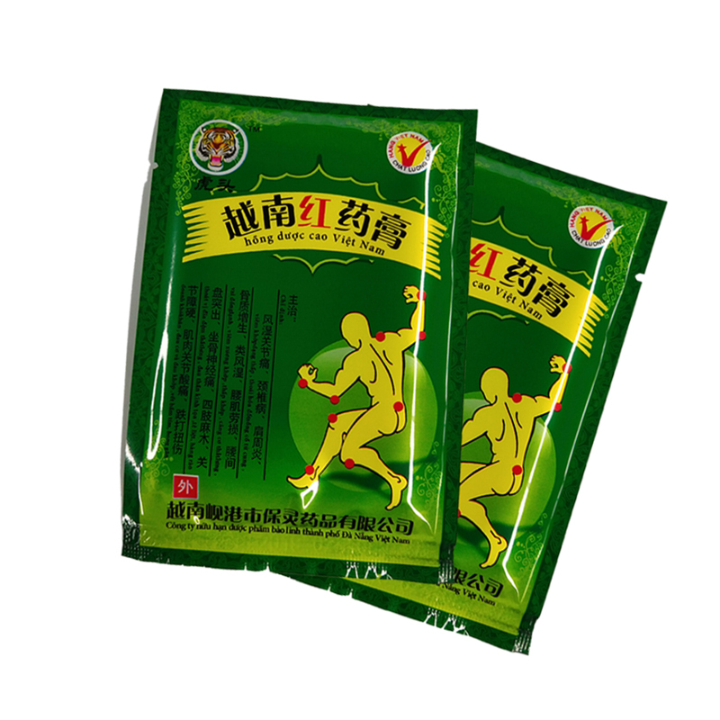 Vietnam Red Tiger Balm Plaster Muscular Pain Stiff Shoulders Pain Relieving Patch Relief Health Care Product  16 Piece/2 Bags
