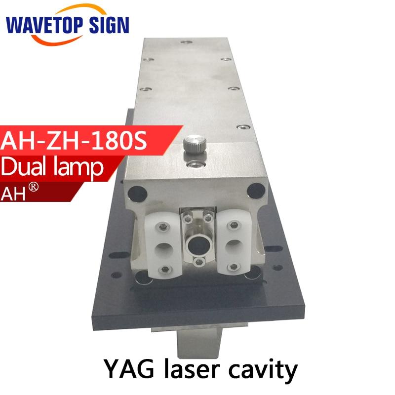 Dual lamp laser cavity AH-ZH-180S Reflector cavity length 180mm YAG laser welding machine use for YAG laser cutting machine dia40mm focal length 150mm 2 pieces combined yag cutting machine laser focus lens