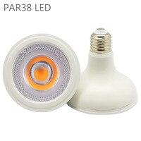 PAR38 светодиодный светильник 12 Вт 20 Вт 36 Вт E27 Лампа COB Светодиодный точечный светильник AC110V 220 в теплый белый холодный белый с регулируемой яр...