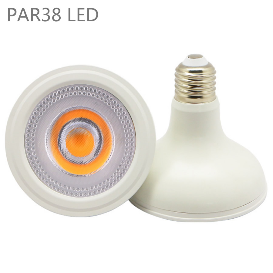 par38 led light bulb 12 w 20 w ac110v 36 w e27 lampada cob levou holofotes
