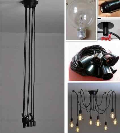Подвесной светильник-паук, ретро подвесной светильник, скандинавский потолочный светильник, светодиодный промышленный подвесной светильник для гостиной, ресторана, кафе, украшения